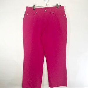 Escada Sport Marie Hot Pink Crop Capri Pants 38 M